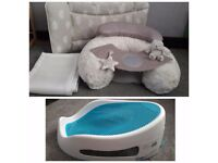 BABY BUNDLE Mamas&papas sit & play,Luxury change mat,Breathable cot bumpers,Angelcare bath support