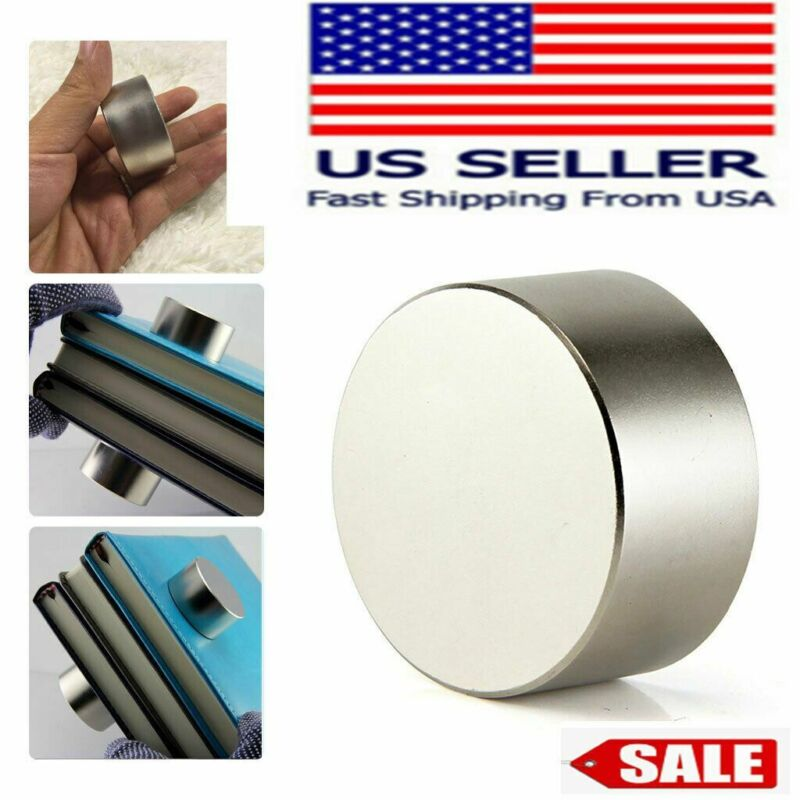 Round N52 Large Neodymium Rare Earth Magnet Big Super Strong Huge 40mm*20mm USA