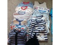 Baby boy sleepsuits and vests bundle 3-6 months