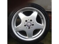 "Mercedes AMG 17"" alloys genuine ( front/ rears)"