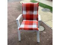 Garden chair and cushion