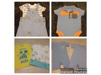 12-18 month summer bundle, romper suits, polo body vest & t shirts