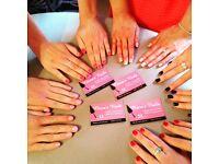 **this sat acrylic nail extensions £15, gel nail polish £10** Norwich mobile nails