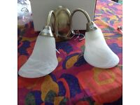Set of two double wall lights