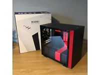 NZXT H200i Mini-ITX Computer Case • Black/Red • Great Condition • + Accessories