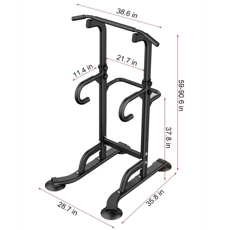 Dip Power Tower Pull Up Strength Training Workout Home Gym