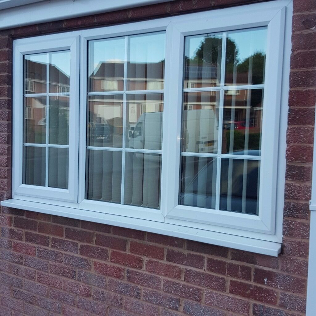 White upvc double glazed window with Georgian barring | in Cudworth ...