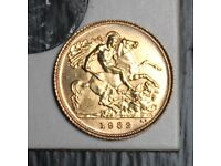 1982 Elizabeth II Half Sovereign Gold Coin