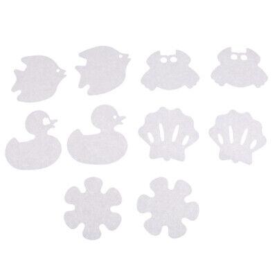 10x Badewanne Rutschfeste Applique Abziehbilder Anti-Rutsch-Dusche Aufkleber (Badewanne Abziehbilder)