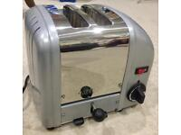 Dualit Classic 2-slice toaster. New heating elements