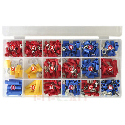 295 Pcs Electrical Insulated Wire Connector Crimp Terminal Assortment Kit