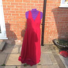 Red bridemaid/ prom dress