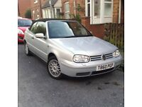Beautiful low mileage , automatic Golf Cabriolet in super condition with leather seats and MOT .