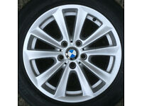 BMW 17 5 series Alloy Wheel rim 225 55 Tyre F10 F11