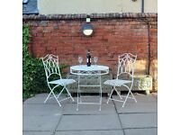 Cast iron vintage style garden bistro table and chairs set