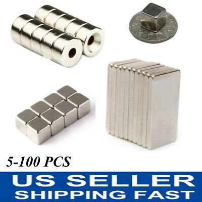 N52 N50 N35 Super Strong Countersunk Rare Earth Neodymium Ring Magnets 5-100pcs