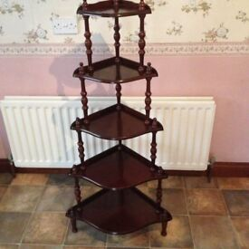 5 TIER MAHOGANY WHATNOT