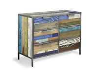 Industrial Six Drawer Chest