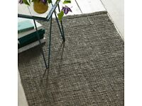 Jute/Boucle West Elm Rug in Clay (new never used still in packaging)