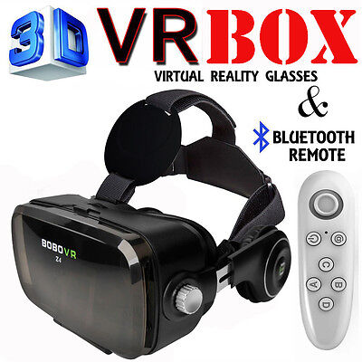 BOBOVR Z4 3D VR Virtual Reality headphone Game Movie Glasses + Remote Control BK
