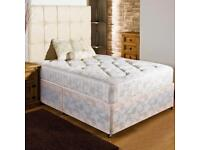 USED DOUBLE BED BASE AND MATTRESS .FREE LOCAL DELIVERY