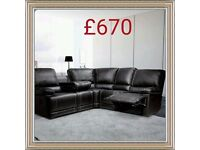 Leather recliners from £580 for 3 and 2 Seater