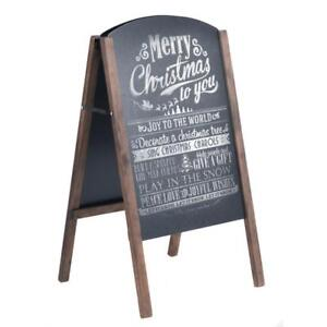 "31.5"" Wood A-Frame Chalkboard Menu Sign Board Sidewalk Wedding Signage - BRAND NEW - FREE SHIPPING"