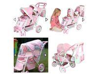 Sno-Flake dolls pram/tandem buggy/toy