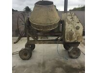 Large terex cement mixer
