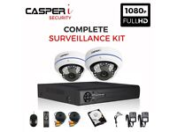 4CH 1080P DVR kit with 2 x CCTV 2.0MP HD Dome Cameras Wide Range High Resolution