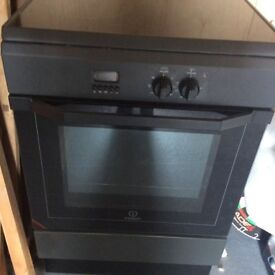 Indiset free standing electric cooker induction hob