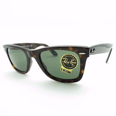 Ray Ban Wayfarer 2140 1075 Havana Green G15 New Authentic Sunglasses r