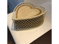 Coaster Set Heart Shaped X 4 Wooden