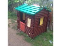 Kids log cabin for garden