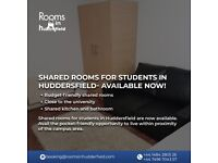 Shared rooms for students in Huddersfield- Available Now!