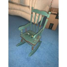 Rocking chair for decoration.