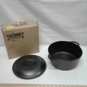 Lodge Cast Iron Dutch Oven, 5 quart.