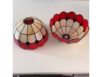 A pair of modern Tiffany style Lampshdes