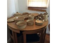 Denby dinner service 6 place settings various serving bowls and coffee set