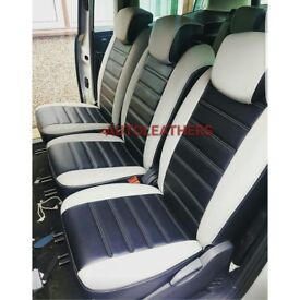 LEATHER CAR SEATCOVERS FOR TOYOTA PRIUS PLUS VOLKSWAGEN TOURAN VAUXHALL ZAFIRA