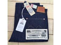 Levi's Vintage Clothing LVC 1915 501 XX Selvedge Denim Jeans W 34 L 34 NWT Bag