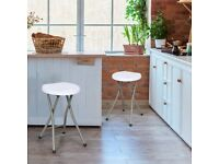 2X Folding Stool Portable Seat with Metal Frame OP3904
