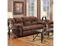 SOFA 3 Seater MOTION RECLINING SOFA Brown (Chocolate) premium textured fabric