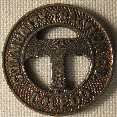 Vintage Toledo Ohio Community Traction Transit Token Signed Forsgard whotoldya