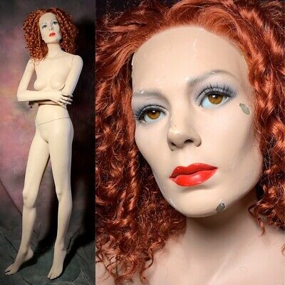 Greneker Mannequin Female Movable Glass Eyes Full Realistic Original Vintage 70s