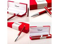 Fountain Pen with Ink Refill Converter [Million Dollar Red] and Gift Case