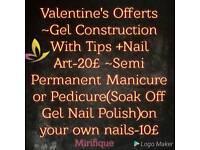 Nails technician in gell + manicure+ pedicure