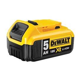 Dewalt batteries 18v 5ah new!!!