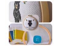 American Black Bear Cross Stitch Padded Hoop Kit