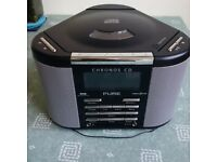 unused Pure Chronos digital radio with CD player and remote control